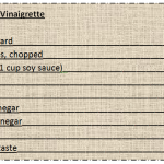 Recipe Vinaigrette