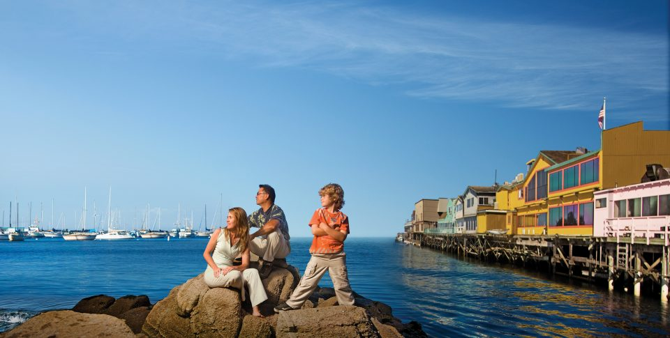 Family time in Monterey