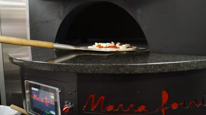 Brick Pizza oven at Portola Hotel