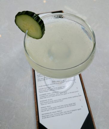 Cucumber Martini from Jacks Monterey