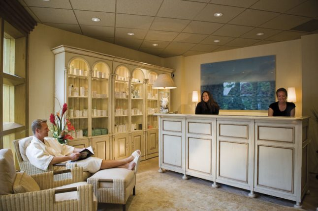 Spa on the Plaza front desk