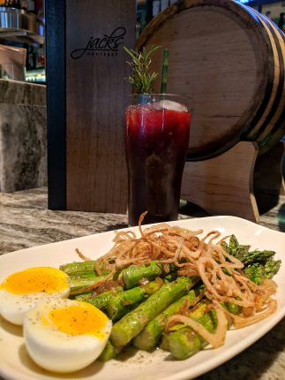 Coke Farm's First of the Season Asparagus with mocktail