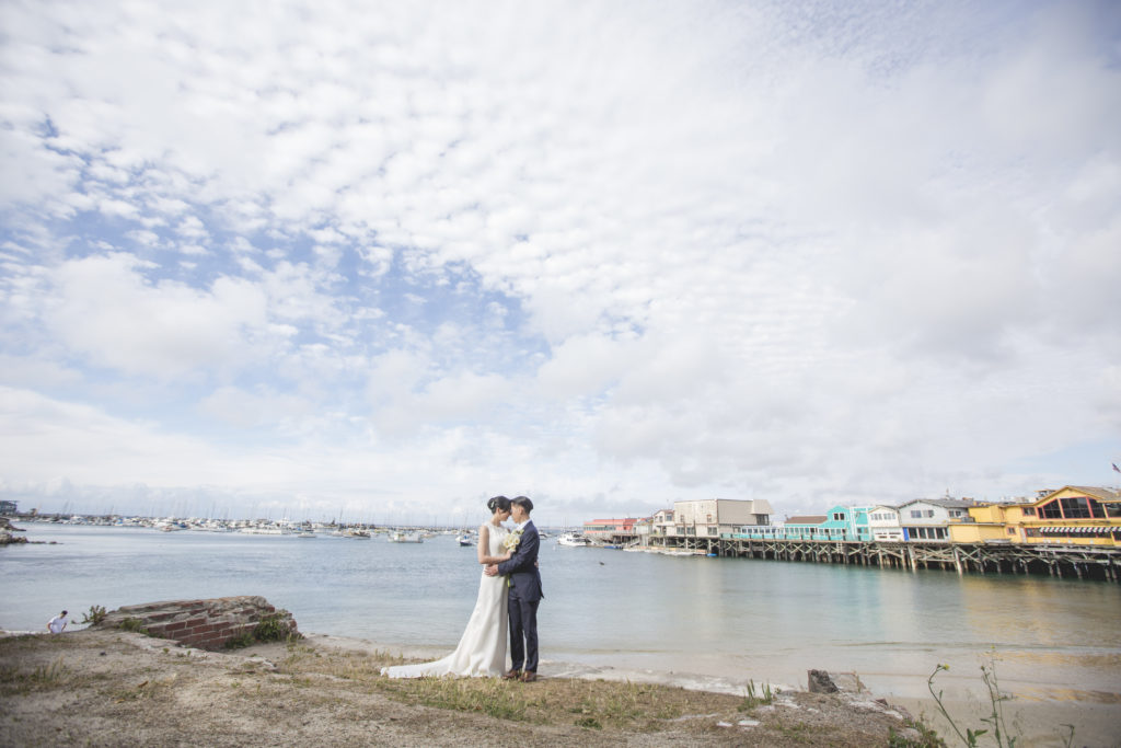 SimplyTwo Photography- Bride and groom by the wharf