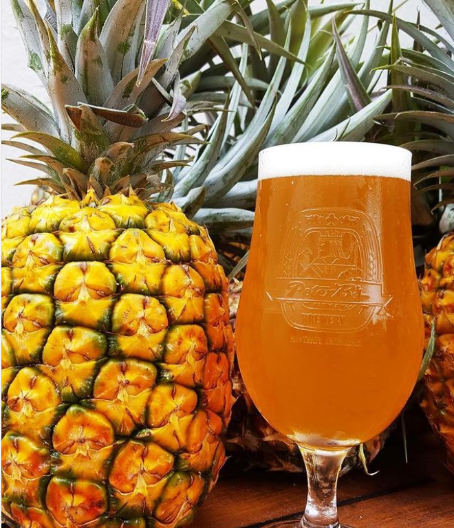 Miss IIPA, a fruity beer with pineapples
