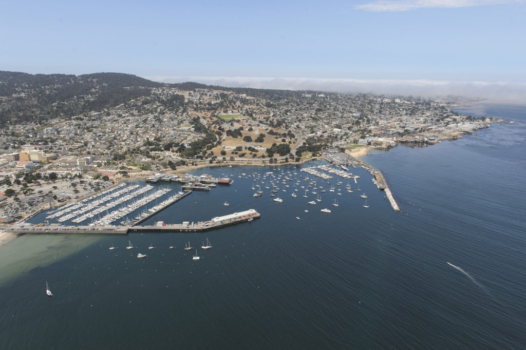 View of the Beautiful Monterey Bay from a MRY flight